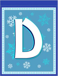 Banderines de Frozen para Imprimir Gratis. Frozen Birthday Banner, Girl Birthday, Frozen Theme, Frozen Party, Monogram Alphabet, Alphabet And Numbers, Frozen Decorations, Banner Letters, Disney Frozen