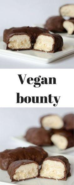 Vegan and bounty – Pastry Vegan Dessert Recipes, Delicious Vegan Recipes, Vegan Sweets, Delicious Desserts, Vegan Food, Vegan Chocolate, Chocolate Recipes, Famous Chocolate, Lemon Pudding Recipes