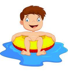 Cartoon Boy with inflatable ring vector image on VectorStock Cute Turtle Cartoon, Snail Cartoon, Eagle Cartoon, Cute Elephant Cartoon, Cute Panda Cartoon, Sheep Cartoon, Bear Cartoon, Cartoon Kids, Girl Cartoon