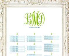 Printable Wedding Seating Chart Seating Sign by MemDesignShop