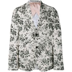 GUCCI Tailored Floral Print Blazer ($1,990) ❤ liked on Polyvore featuring men's fashion, men's clothing, men's sportcoats, gucci mens clothing and retro mens clothing