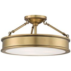 "Harbour Point 19"" Wide Liberty Gold Ceiling Light -"
