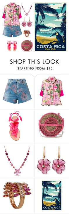 """Spring Vacation in Costa Rica"" by karen-galves ❤ liked on Polyvore featuring Yves Saint Laurent, F.R.S For Restless Sleepers, Aquazzura, Sophie Anderson, Amour, Rina Limor and FerrariFirenze"