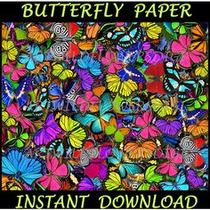 Butterfly Digital Paper ($1.50) ❤ liked on Polyvore featuring home, home decor and butterfly home decor