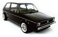 Gorgeous Black VW Golf GTI MK1