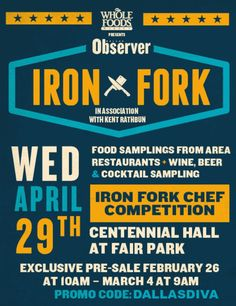 Dallas foodies, get yourselves to the 2015 Iron Fork food festival and chef challenge! | TheDallasDiva.com