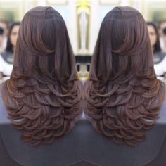 Hair style girl Step By Step for wedding Long Layered Haircuts, Haircuts For Long Hair, Long Hair Cuts, Layers For Long Hair, Layered Long Hair, Medium Hair Styles, Curly Hair Styles, Hair Medium, Pinterest Hair