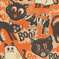 Fabric... Spooktacular Scaredy Cat by Blend Fabrics
