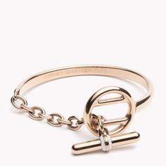Signature Bracelet - Jewelry, from Tommy Hilfiger Luxury Jewelry, Modern Jewelry, Jewelery, Silver Jewelry, Fine Jewelry, Jewelry Making, Hermes Jewelry, Bracelet Rose Gold, Diamond Bangle