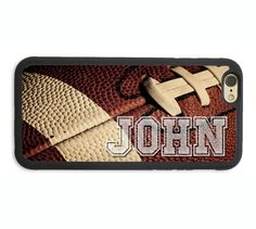 PERSONALIZED NAME FOOTBALL PHONE CASE COVER FOR IPHONE 6 6S PLUS SE 5S 7 CUSTOM…