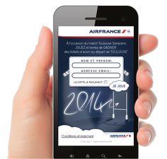 Dans le top des QR codes les plus scannés par la communauté Mobiletag le weekend des 11 et 12 janvier 2014 : AIIRFRANCE avec son jeu concours pour gagner des vols gratuitement ! Vous aussi téléchargez l'application Mobiletag et scannez avec votre smartphone pour jouer : http://8.mobiletag.com/?id=566