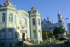 Prédio da Prefeitura até 1972, atualmente Palácio Marcos Konder e Museu Histórico de Itajaí.