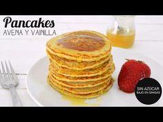 (40) DESAYUNOS SALUDABLES: PANCAKES AVENA | mi secreto para pancakes esponjosos en 15 min - YouTube