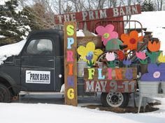 Flowers filled the truck...even in the snow!