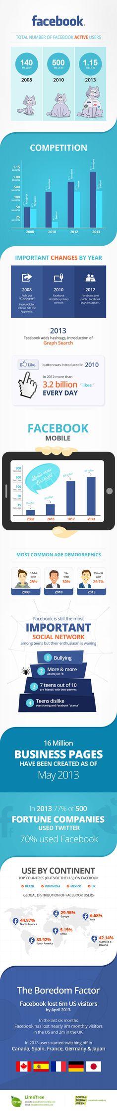 Infographic: Face(book) Value [INFOGRAPHIC]... va perdiendo usuarios.... Twitter le supera en uso por empresas (500 Fortune)