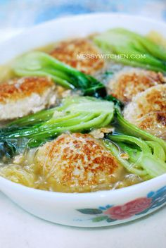 Lion's head braised pork meatballs with cabbage and bok choy