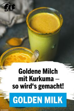 Golden Milk: Golden Milk - Delicious, Trendy & Full Benefits - Goldene Milch: Golden Milk – köstlich, trendy & voller Benefits Ever tasted golden milk or turmeric latte? We& show you how to make the delicious and healthy drink with turmeric. Superfood, Curcuma Latte, Ayurveda, Healthy Drinks, Healthy Recipes, Healthy Milk, Turmeric Drink, Nutrition, Vegetable Drinks