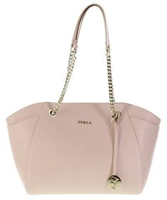 Furla Julia Saffiano Leather Satchel Shoulder Bag Handbag Purse in Magnolia