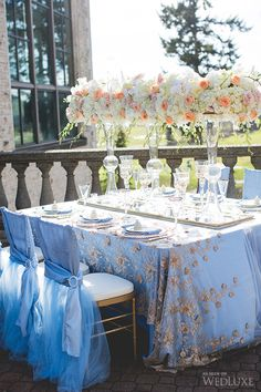 Love these chair covers for Chiffon Chairs Wedding Chair Decorations, Wedding Table Settings, Wedding Chairs, Wedding Centerpieces, Floral Centerpieces, Wedding Arrangements, Table Arrangements, Floral Arrangements, Event Decor