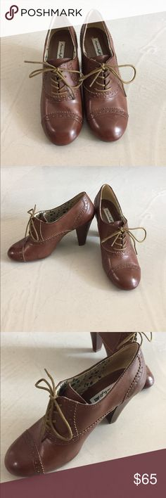 Never Worn Oxford Heels Size 7, never worn brown Oxford heels. Super cute and versatile. Originally from American Eagle but never worn. American Eagle Outfitters Shoes Heels