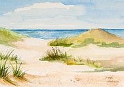Watercolor Paintings - Summer on Cape Cod by Michelle Wiarda