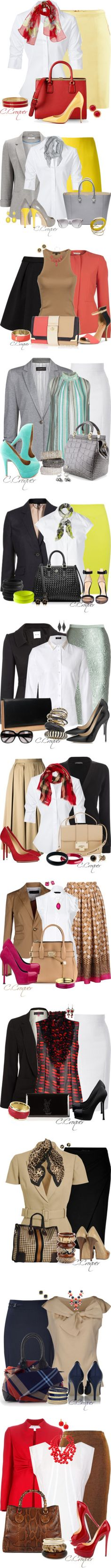Skirt Work Outfit by ccroquer on Polyvore featuring мода, H&M, Chanel, Steffen Schraut, Dolce&Gabbana, Kate Spade, P.A.R.O.S.H., Wallis, Brian Atwood and Victoria Beckham