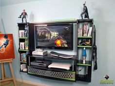 Gaming entertainment center diy gamer 8 bit apples and tea a spotters video games bedroom interior game ideas top best custom