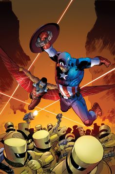 Uncanny Avengers (Lee Weeks Captain America Team-Up Variant) Check out this awesome WorthPoint article! Comic Book Artists, Comic Book Characters, Marvel Characters, Comic Character, Comic Books, Marvel Comics Art, Marvel Comic Universe, Marvel Heroes, Marvel Fight