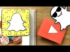 Easy Snapchat Bookmark DIY - Paper Corner Bookmark DIYs - Snapchat Paper Crafts - YouTube