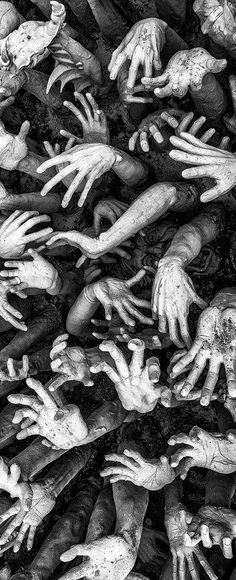 The world is very different now. For man holds in his mortal hands the power to abolish all forms of human poverty, and all forms of human life. Kennedy /Image: Drew Hopper, thank you A bit macabre but I like it! Zombies, Dark Art, Black And White Photography, Art Inspo, Art Photography, Poverty Photography, Creepy, Horror, Photos