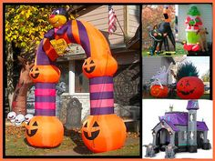 Halloween Gemmy Inflatable Door Arch Lawn Decoration over 9ft TALL NEW nbox RARE
