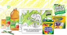 Free Juicy Juice Colouring Pages from Crayola
