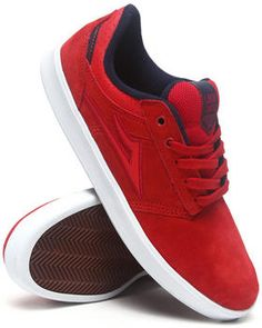 Lakai | Linden Red Suede Sneakers. Get it at DrJays.com
