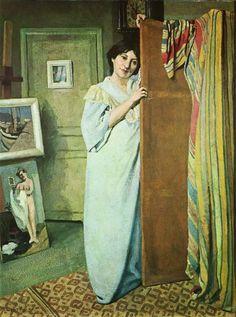 Félix Vallotton: Im Atelier, 1902. (uit: Bonnard und die Nabis, uitg: Schuler Verlagsgesellschaft München)   Vanaf 14 februar t/m 1 juni is...