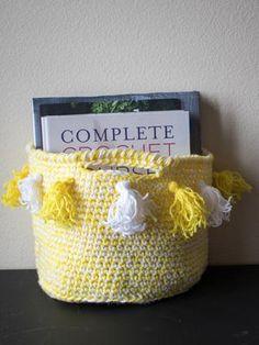 DIY Tassel Basket | AllFreeCrochet.com