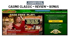 Casino Classic Review - Bonus - Ratings Casino Classic is one of the most famous casino by casino rewards group. Gives $500 as signup bonus and affiliated with more than 30 casinos. Fastest growing casino. Unbiased Review about casino Classic.  For more detail Checkout : http://www.gamblersgames.com/casino-classic-review-bonus-ratings/ To signup login to : http://www.gamblersgames.com/CasinoClassic Download Software : http://www.gamblersgames.com/CasinoClassicdl