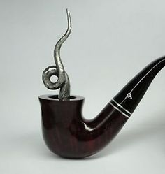 Handmade Round Pipe Tamper Solid Steel Hand Forged Lucky Pipes