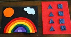 Have I pinned this before? Either way- LOVE the rainbow felt board