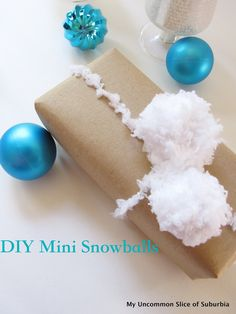 Tutorial on how to make DIY Mini Snowballs out of yarn in less then 5 minutes.
