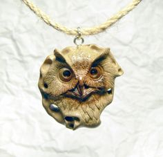 Exclusive Eco Owl pendant necklace OOAK carved Wood Bird jewelry Handmade Owl jewelry Bird pendant necklace Unisex pendant Custom pendant by MakArsStudio on Etsy https://www.etsy.com/listing/189674436/exclusive-eco-owl-pendant-necklace-ooak