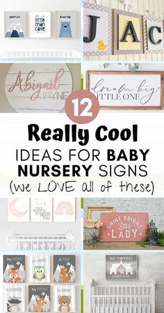12 Really Cool Ideas for Baby Nursery Signs (we LOVE all of these) Nursery Signs, Baby Nursery Decor, Nursery Neutral, Nursery Themes, Girl Nursery, Nursery Room, Nursery Ideas, Baby Boy Rooms, Kids Rooms