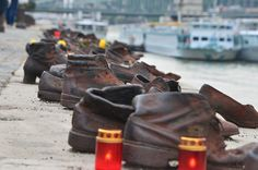 Shoes on the Danube bank. photo By A.G.