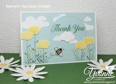 ......Yvonne is Stampin' & Scrapping.....: Stamp Impressions Europe - Flowers and Daisies