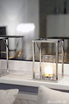 simple clean lines - silver and glass lanterns - www.charandthecity.indiedays.com -blog