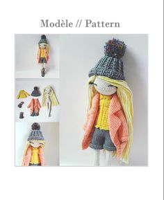 Bridgette Crochet doll pattern by Flaviecrochette on Etsy