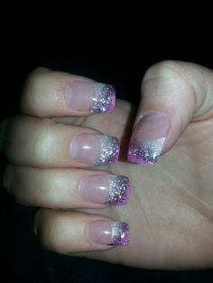 Cute sparkle nails