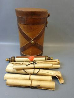 Scroll case and scrolls from HBO Rome