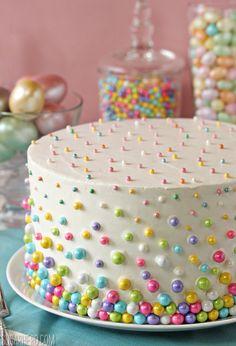 Easter Polka Dot Cake - SugarHero ---   http://tipsalud.com   -----