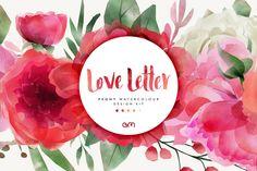 AM Studio | A Creative Market Shop Watercolor Kit, Watercolor Design, Watercolour Flowers, Illustrations, Graphic Illustration, Design Typography, Lettering, Websites Like Etsy, Photoshop
