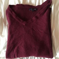 American Eagle Burgundy Sweater Super cozy! Some minor polling on the front and back. American Eagle Outfitters Sweaters